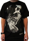 Image of Money to Burn Tee - Black