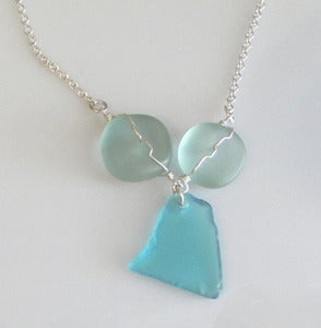 Image of Beach Glass Sterling Silver necklace