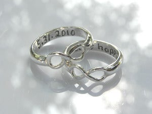 Image of Sterling Silver Infinity Wedding or Promise Ring 
