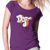 Image of Dof T-Shirt Women Eggplant