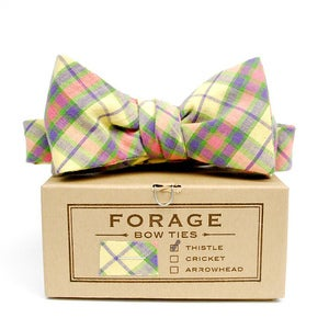 Image of yellow plaid {bow tie}