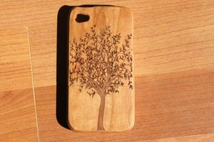 Image of The Tree of life wooden bamboo case for iPhone 4