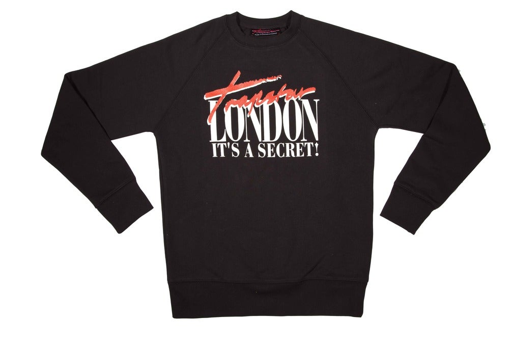 Image of Trapstar London sweater (black) (red text)