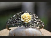 Image of Vintage Style Rose Cuff Bracelet in Antique Brass - BC002