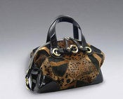 Image of Francesco Biasia Various Fur and Animal Print Satchel 