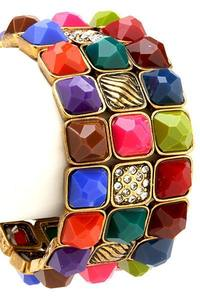 Image of Colorful Jewel Stretch Bracelet