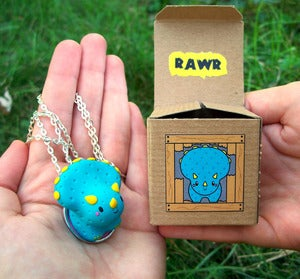 Image of Mini RAWR-o-saur Necklaces