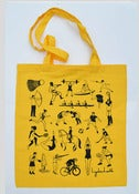 Image of Sports Shopper Tote Bag Yellow