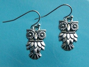 Image of Mini Owl Earrings