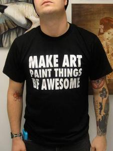 Image of Urban-Muse - MAKE ART PAINT THINGS BE AWESOME tee - MENS