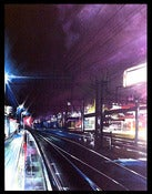 Image of 'Neon City' - Original painting on canvas