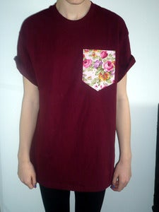 Image of Pink Rose Pocket Tee