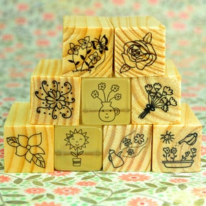 Image of Flower Rubber Stamps