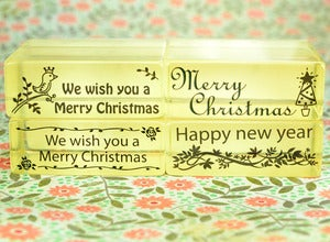 Image of Holiday Rubber Stamps