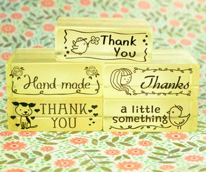 Image of A Little Note Rubber Stamps