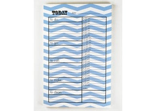 Image of ZIGZAG 'TO DO' BLUE NOTEPAD