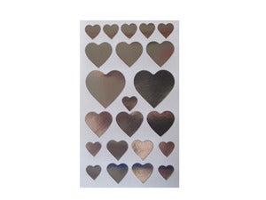 Image of Cute Silver Heart Stickers
