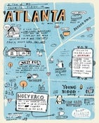 Image of FAVORITE PLACES IN ATLANTA print