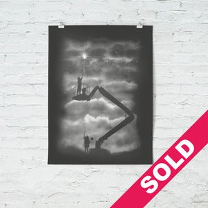 Image of Reach - (screenprint) black - hand finished