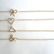 Image of geometric charm bracelets // gold