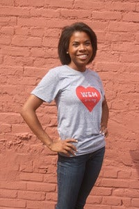 Image of Gray 'WSM is In My Heart' Tee-Shirt