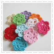 Image of Single Crochet Flowers - 10 pack