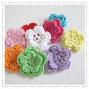 Image of Double Crochet Flowers - 9 pack