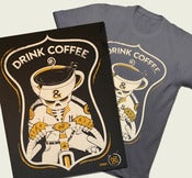Image of Drink Coffee & Ride All Night Shirt + Poster