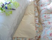 Image of Dolly Duck Egg Blue Paisley (Large Single Frilled Edge)