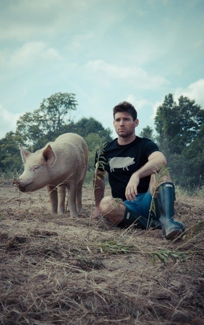 Image of *LIMITED EDITION* GUYS JOHN BARTLETT + FARM SANCTUARY &quot;AMBASSADOR COLLECTION&quot; PIG TEE