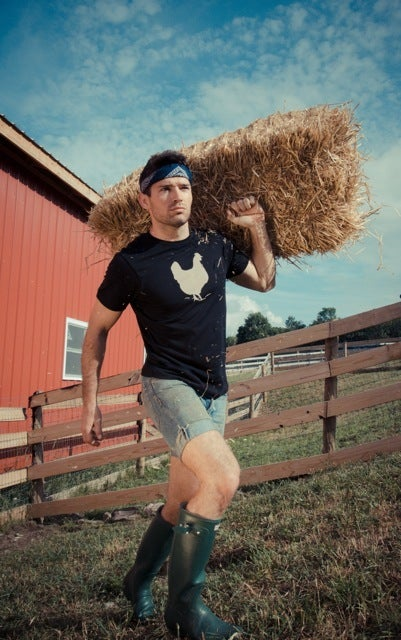 "Image of *LIMITED EDITION* GUYS JOHN BARTLETT + FARM SANCTUARY ""AMBASSADOR COLLECTION"" CHICKEN TEE"