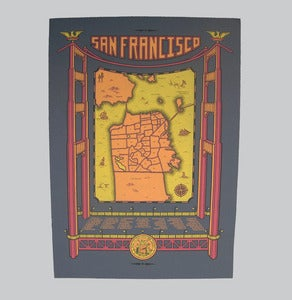 Image of san francisco map - bk