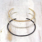 Image of simple forged cuff bracelet