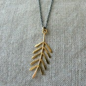 Image of spruce necklace- vermeil & oxidized silver