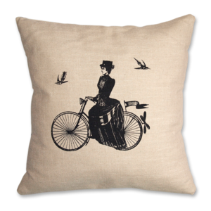 "Image of ""A Lady Rides"" 45cm x 45cm Cushion"