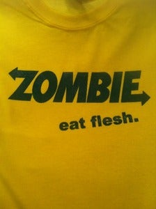 Image of ZOMBIE / EAT FLESH / SUBWAY PARODY T-SHIRT