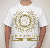 "Image of Limited Metallic Gold ""Royal Crest"" tee limited to 25 pieces!"