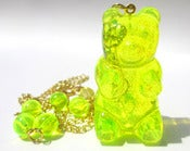 Image of Gummy Bear necklace Neon Lemon