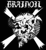Image of Brainoil T-shirt, Jake Keeler artwork, black with white ink