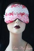 Image of  Lolita Sleeping mask with pink bows in Kawaii Cotton
