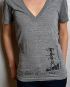 "Image of ""To The Wind"" Deep V-Neck"
