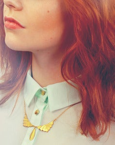 Image of Minerva - Chevron Drop Necklace