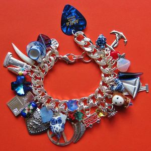 Image of Summer Blues Chunky Monkey Charm Bracelet