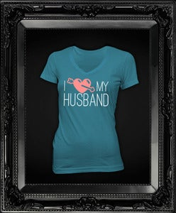 Image of I Love My Husband || Turquoise