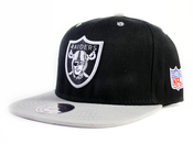 Image of Oakland Raiders Mitchell&amp;Ness Snapback in Black