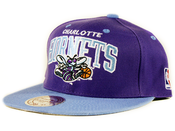 Image of Charlotte Hornets Mitchell&amp;Ness Snapback in Purple