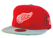 Image of Detroit Red Wings Mitchell&amp;Ness Snapback in Red/Grey