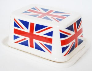 Image of Union Jack Butter Dish