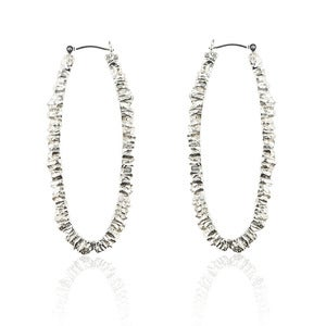 Image of UNDER EARTH Texture hoop earrings