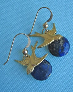 Image of Night Flier Lapis Earrings